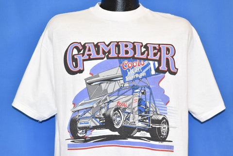 80s Brad Doty Gambler #18 Coors Light t-shirt Large