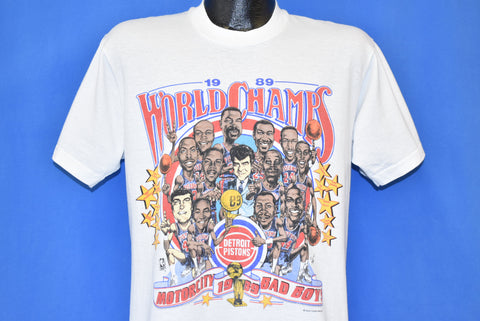 80s Detroit Pistons '89 World Champs t-shirt Large