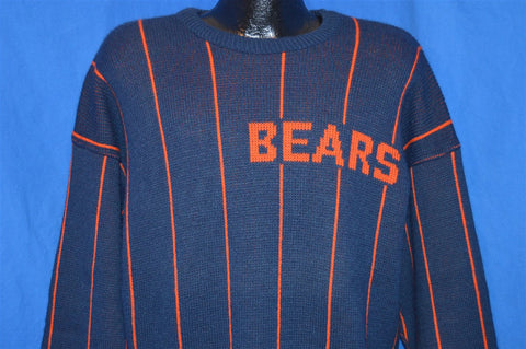 80s Chicago Bears Striped Cliff Engle Sweater Medium