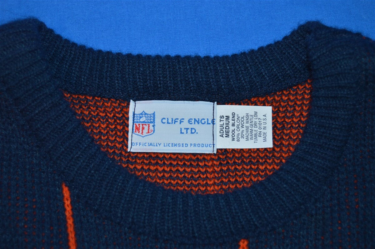 super popular 406a0 3a2f3 80s Chicago Bears Striped Cliff Engle Sweater Medium - The ...