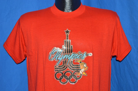 1980 Summer Olympics Moscow Glitter Iron On t-shirt Medium