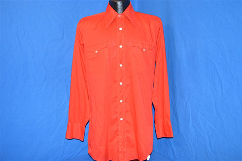 70s H Bar C Red Western Pearl Snap Shirt Medium