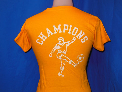 70s Connecticut Soccer School Blue Bar Champion t-shirt Youth Large