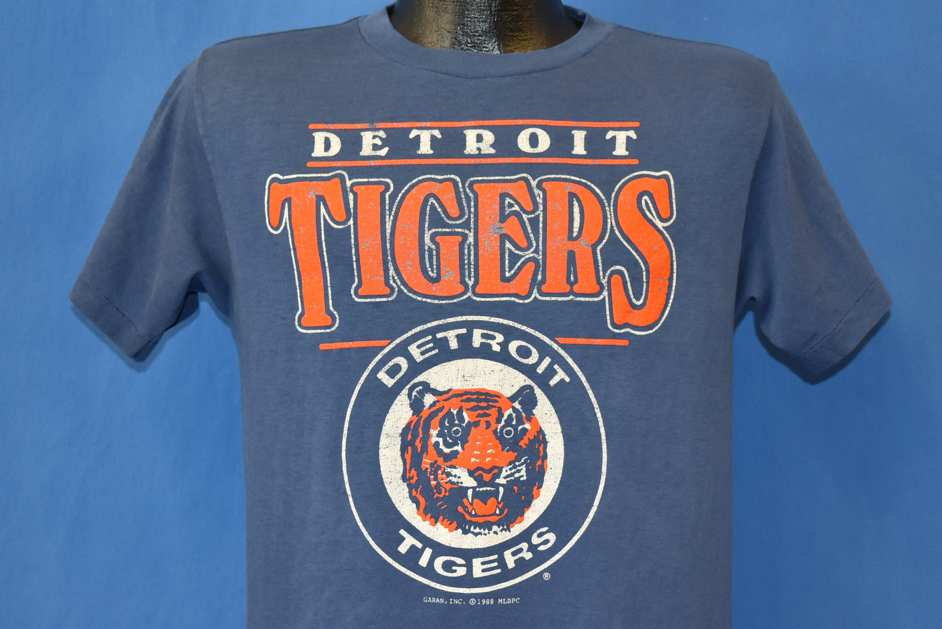 buy popular 97c35 ec3c9 80s Detroit Tigers Logo t-shirt Medium - The Captains Vintage
