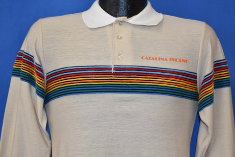 80s Catalina Island California Tourist Polo Shirt Small