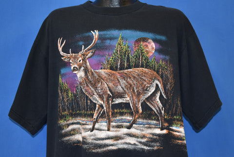 90s Deer In The Woods Wrap Around t-shirt Extra Large