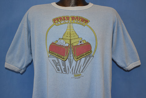 70s Ziggy Cedar Point Gemini Roller Coaster t-shirt Large