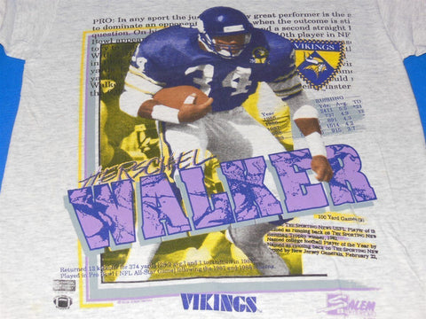 80s Minnesota Vikings' Herschel Walker t-shirt Small