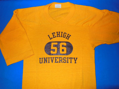 70s Lehigh University Blue Bar Champion Jersey Style t-shirt Youth Small 8