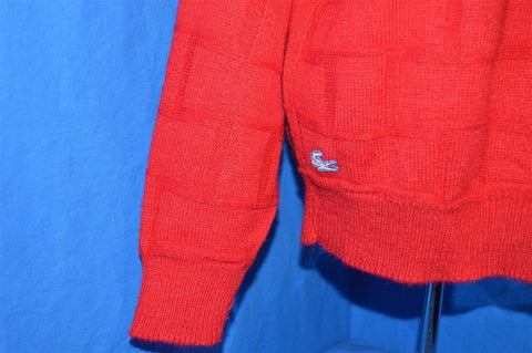 80s Izod Lacoste Red Novelty Knit Women's Pullover Sweater Large