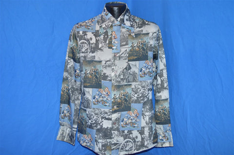 70s Kennington Mickey Mouse Revolutionary War Disco Shirt Medium