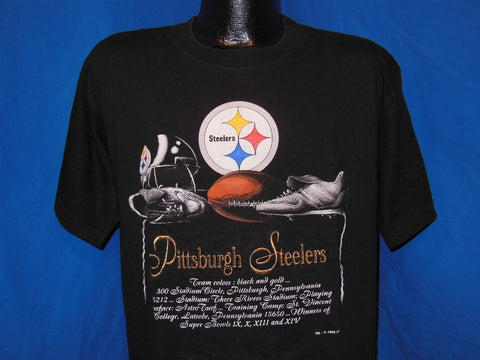 90s Pittsburgh Steelers History Embroidered t-shirt Large