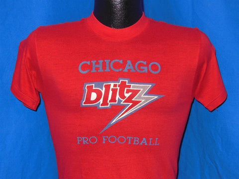 80s USFL Chicago Blitz Pro Football t-shirt Extra-Small