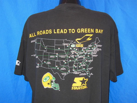 "90s Mike Holmgren ""Leader of the Pack"" Green Bay Packers t-shirt Extra-Large"
