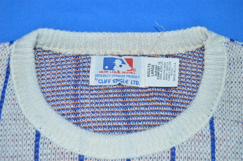 80s NWT New York Mets Cliff Engle Pin Stripe Sweater Large