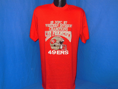 1987 San Francisco 49ers NFC Western Division Champions t-shirt Large