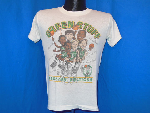 "80s Boston Celtics ""Green Stuff"" Team Caricature t-shirt Small"