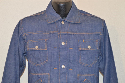 70s JC Penneys Ranchcraft Jean Jacket Small