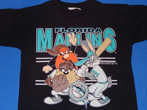 90s Florida Marlins Looney Tunes t-shirt Youth Small 6-8