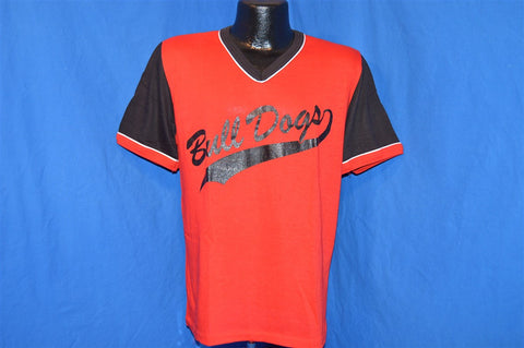 70s Bull Dogs Dodger Sportswear V-Neck t-shirt Medium