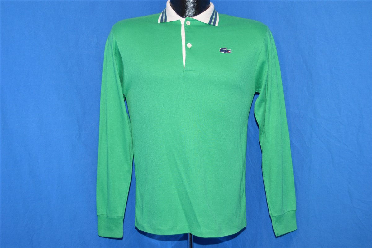 cfea973234b704 ... cheap 80s izod lacoste green long sleeved polo shirt youth extra large  e50e7 d12df