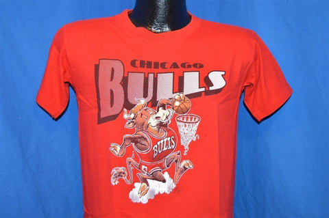 80s Chicago Bulls Jack Davis Cartoon Bull t-shirt Youth Large