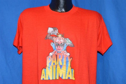 70s Party Animal Iron On Deadstock Funny t-shirt Large