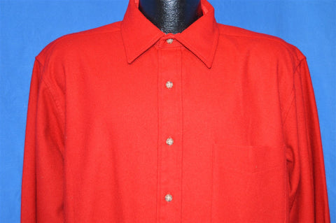 90s Red Pendleton Wool Button Down Dress shirt Large