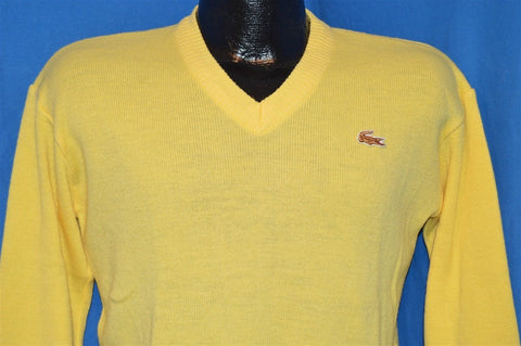 70s Izod Lacoste J.G. Yellow Pullover Sweater Youth Large