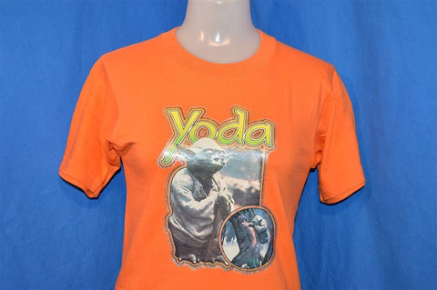 80s Star Wars Yoda Luke Skywalker Iron On t-shirt Youth Large