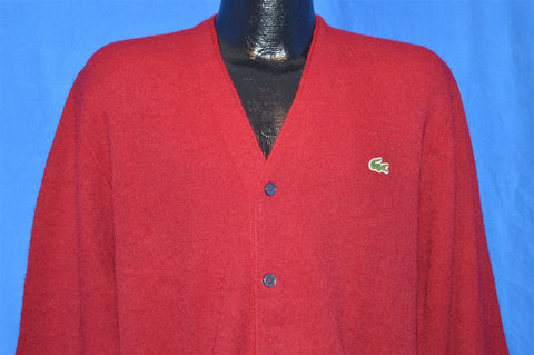 60s Izod of London Maroon Cardigan Sweater Men's Large