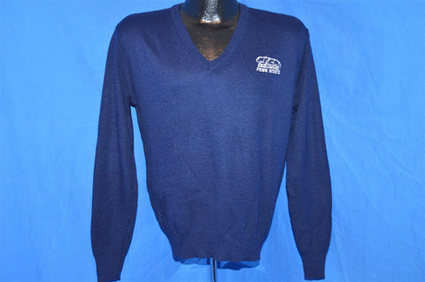 80s Penn State Nittany Lions Navy Blue V Neck Sweater Small
