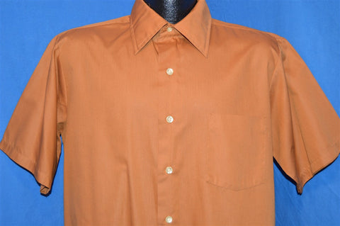 60s JCPenneys Brown Button Down Shirt Large