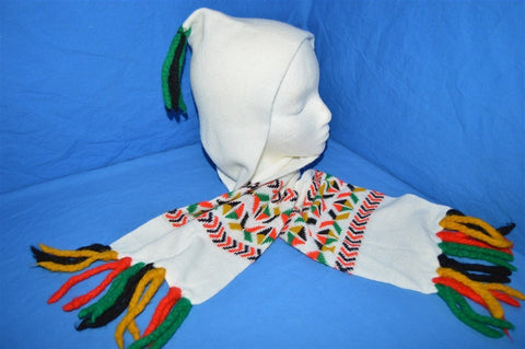 80s Wrap Around Winter Hat Scarf Combo Youth