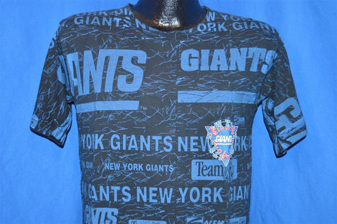 90s New York Giants All Over Print t-shirt Medium