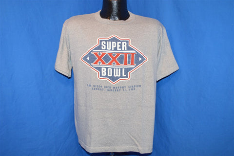 1988 Superbowl XXII Denver vs. Washington D.C. t-shirt Large