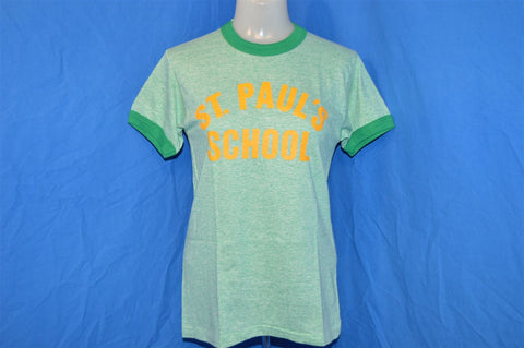 80s St. Paul School Tri Blend Rayon Ringer t-shirt Youth Large