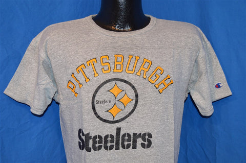 80s Pittsburgh Steelers Heathered Gray Cotton Rayon Blend t-shirt Medium