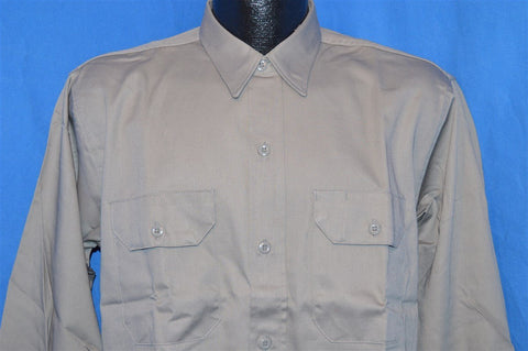 50s Dee Cee Gray Deadstock Work Shirt Large