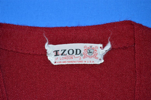 60s Izod of London Maroon Cardigan Sweater Men's Extra-Large