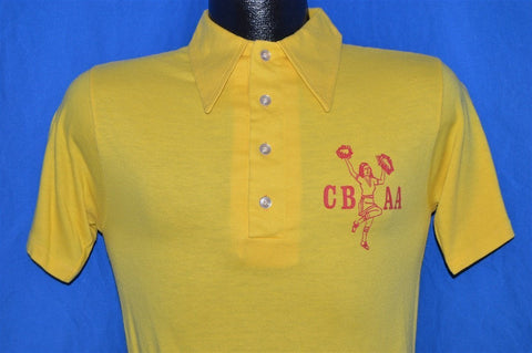 70s CBAA Cheerleading Polo Shirt Small