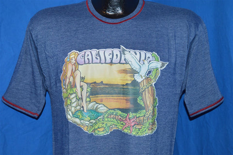 80s California Sunset Naked Woman t-shirt Medium