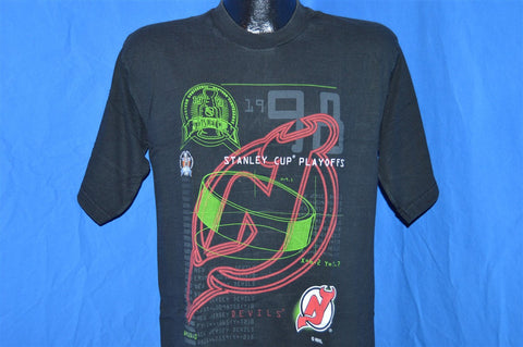 90s New Jersey Devils 1998 Stanley Cup Playoffs Neon t-shirt Youth XL