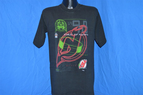 90s New Jersey Devils Stanley Cup Playoffs Neon t-shirt Medium