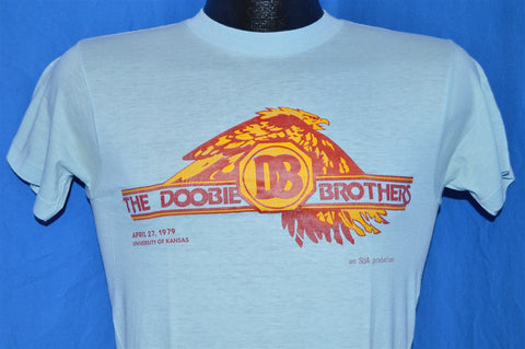 70s Doobie Brothers University of Kansas Concert 1979 t-shirt Small