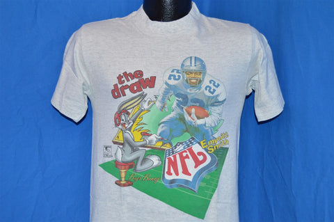 "90s Dallas Cowboys Bugs Bunny Emmitt Smith ""The Draw"" Funny t-shirt Small"