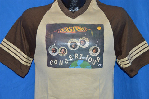 70s Boston Rock Band Concert Tour Striped Jersey t-shirt Small