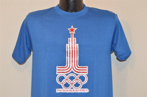 80s Summer Olympics Moscow 1980 Glitter Iron On t-shirt Medium