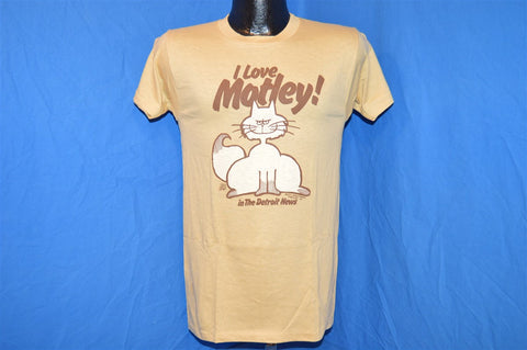 70s I Love Motley the Cat (In the Detroit News) Larry Wright Comic Strip t-shirt Small