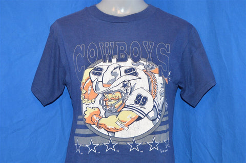 90s Dallas Cowboys #99 Jack Davis Cartoon t-shirt Youth Medium